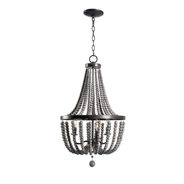 Modern contemporary wood beaded chandelier allmodern