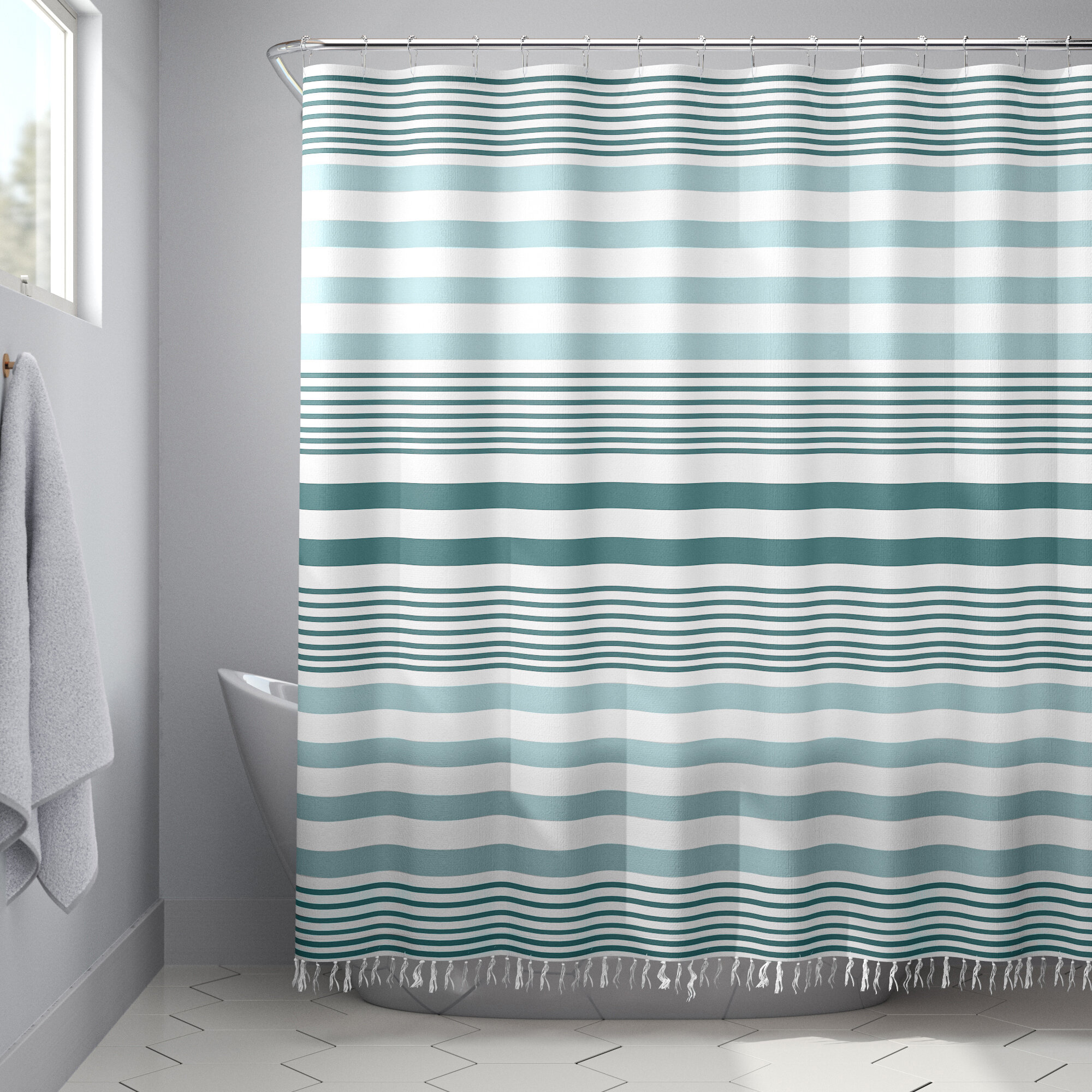Modern Single Shower Curtain Shower Curtains Allmodern