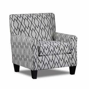 Carolina Accents Woven Fabric Upholstered Armchair
