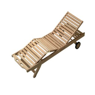Reardon Reclining Teak Chaise Lounge