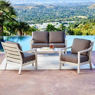 Foundry Select Corduff South Beach 4 Piece Conversation Set with Cushions