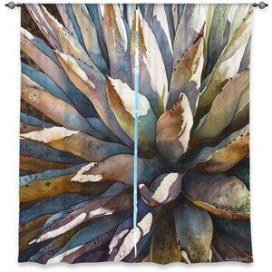 Arkins Anne Gifford's Sunstruck Yucca Plant Room Darkening Curtain Panels (Set of 2)
