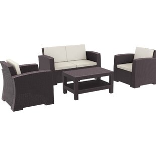 Brayden Studio Vedder 4 Piece Sofa Set with Cushions