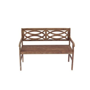 Needville Wooden Garden Bench by Highland Dunes #2