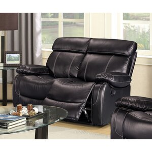 Alvia Breathing Leather Reclining Loveseat by Living In Style