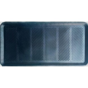 Diagonal Print Rubber Boot Tray By Symple Stuff