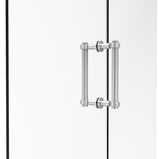 Contemporary 8 Back to Back Shower Door Pull with Grooved Accent by Allied Brass