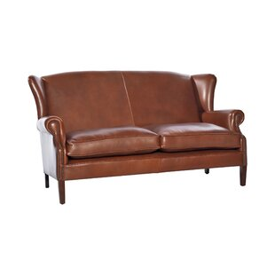 Regalado Genuine Leather Loveseat By Rosalind Wheeler
