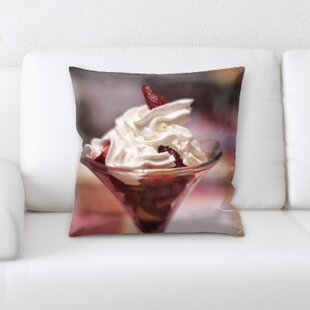 Ice Cream Dessert Throw Pillow