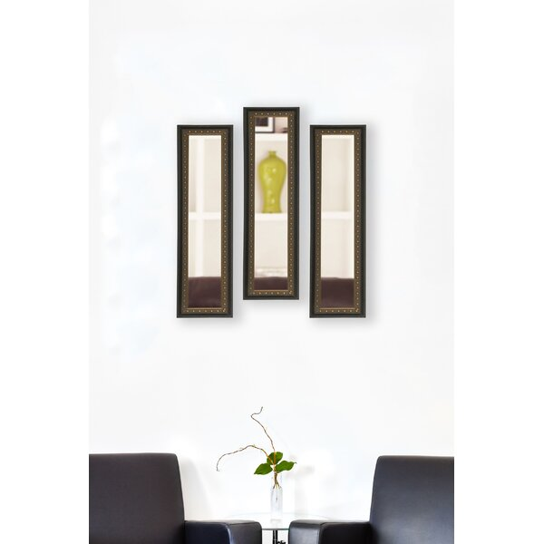 Astoria Grand 3 Piece Derrell Panel Traditional Venetian Mirror Set Wayfair
