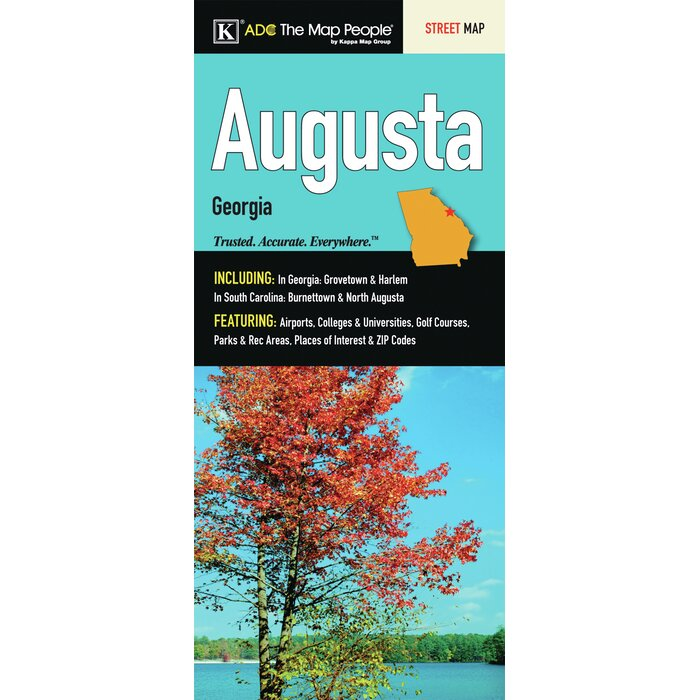 Augusta Georgia Fold Map on