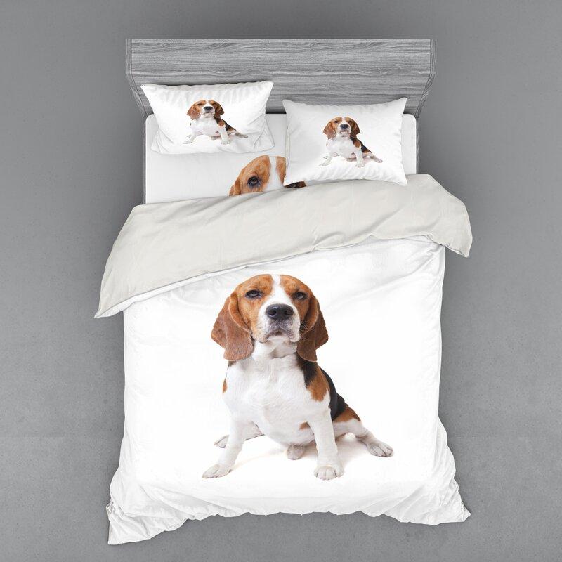 East Urban Home Beagle Duvet Cover Set