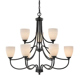 Alcott Hill Grimshaw 9-Light Shaded Chandelier