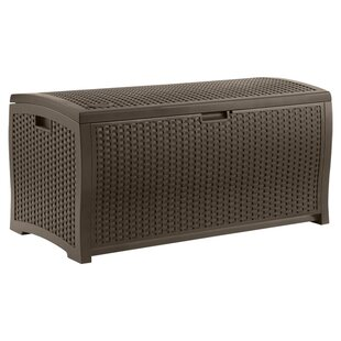 99 Gallon Resin Wicker Deck Box by Suncast
