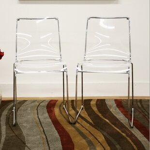 Baxton Studio Lino Dining Chair in Transparent Clear (Set of 2)