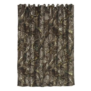 Compare prices Cerritos Oak Timber Shower Curtain ByLoon Peak