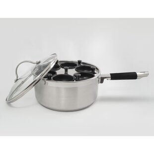 Professional 6 Cup Stainless Egg Poacher