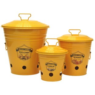 Enameled 3-Container Kitchen Canister Set