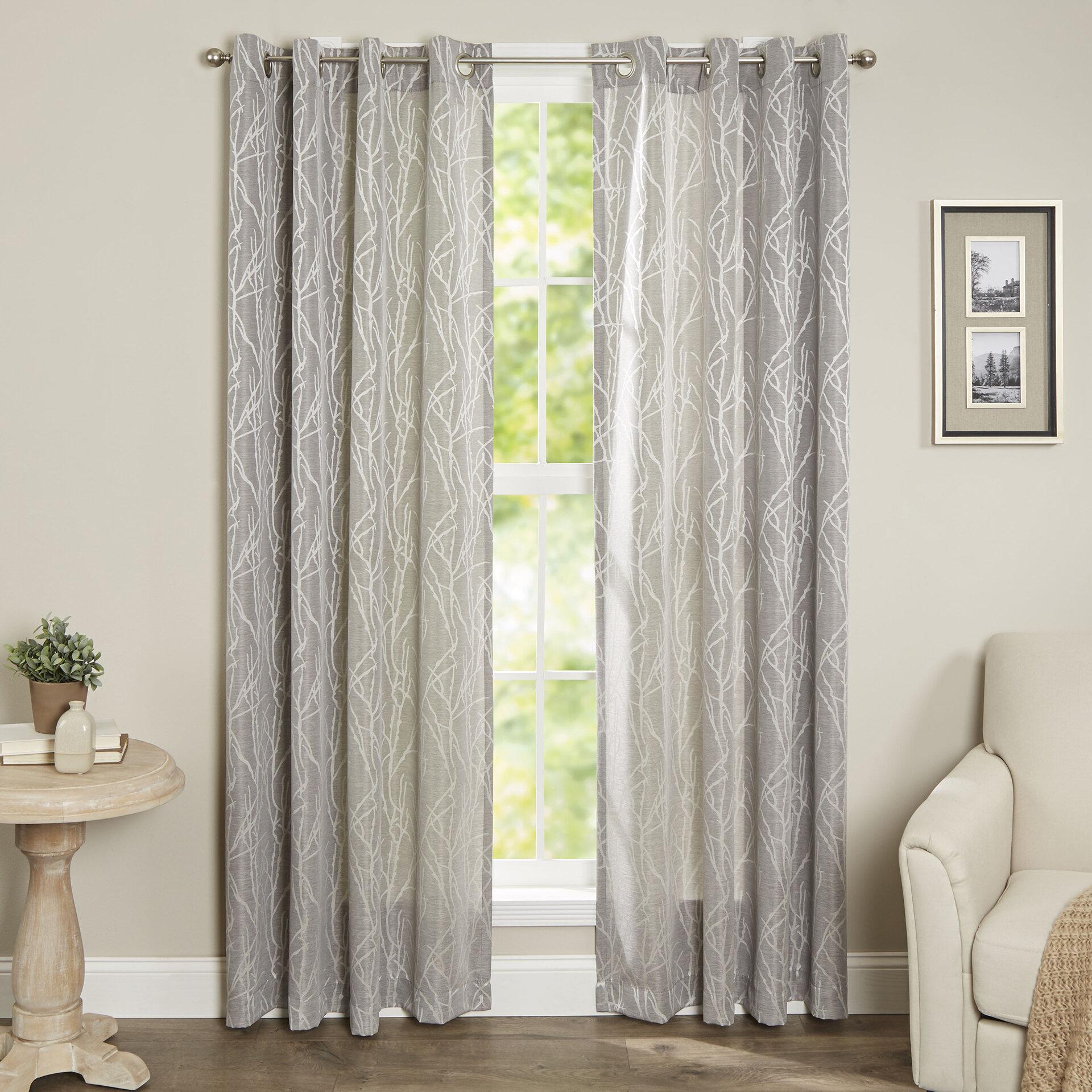 Trent Austin Design Wygant Floral Semi Sheer Grommet Curtain Panels Reviews Wayfair Ca