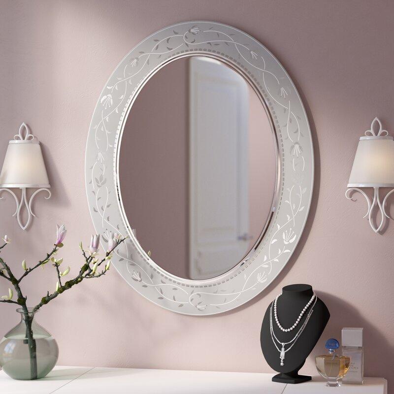 Ordinaire Morandiere Etched Border Bathroom/Vanity Mirror