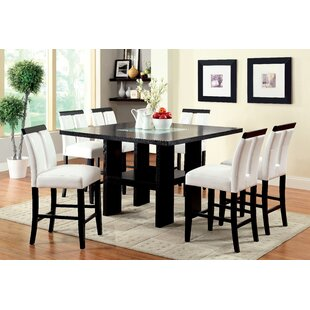 Latitude Run Equuleus LED Counter Height Dining Table