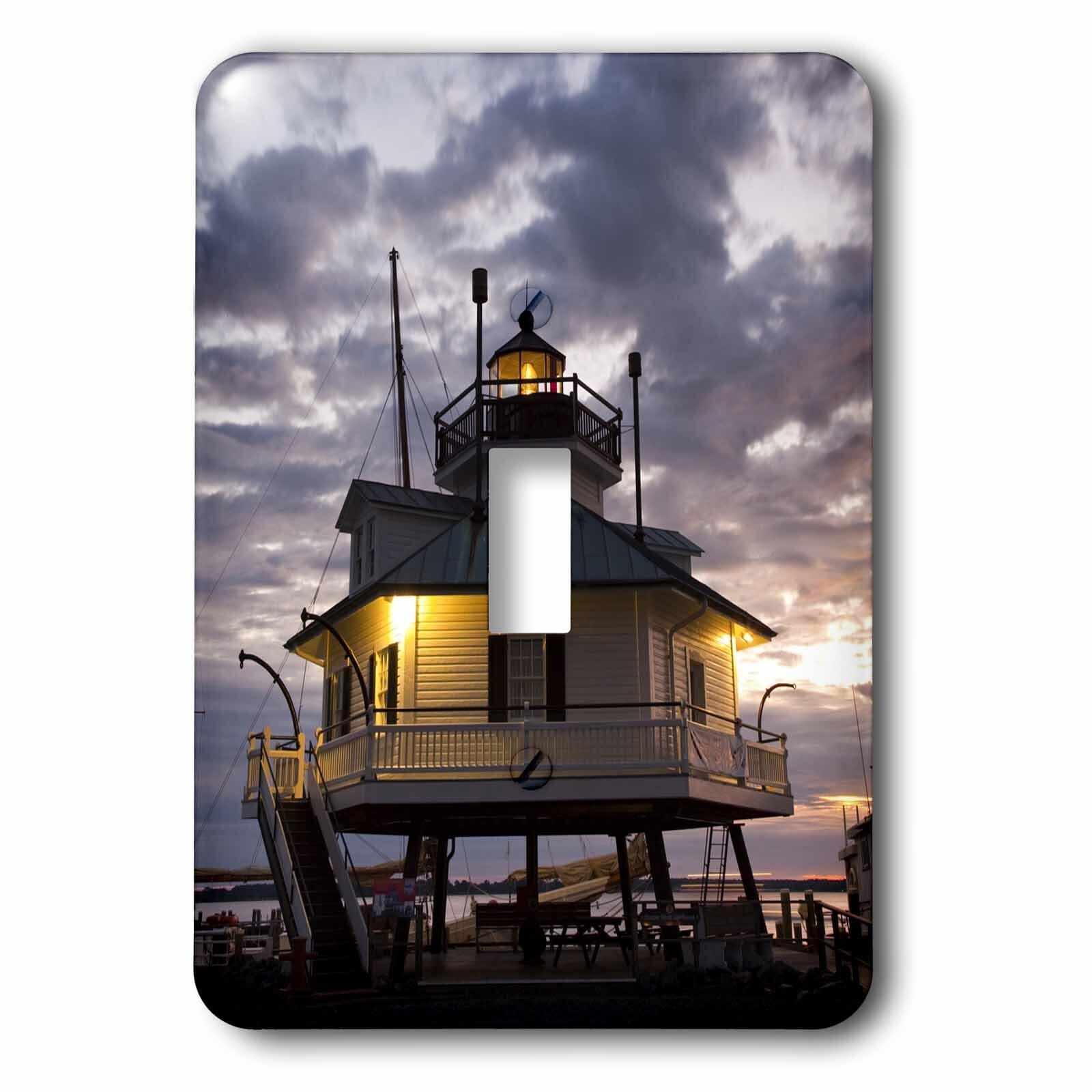 3drose Chesapeake Bay Hooper Straight Lighthouse 1 Gang Toggle Light Switch Wall Plate Wayfair