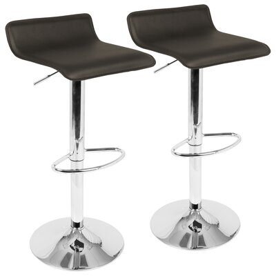 Modern Adjustable Height Low Back Bar Counter Stools