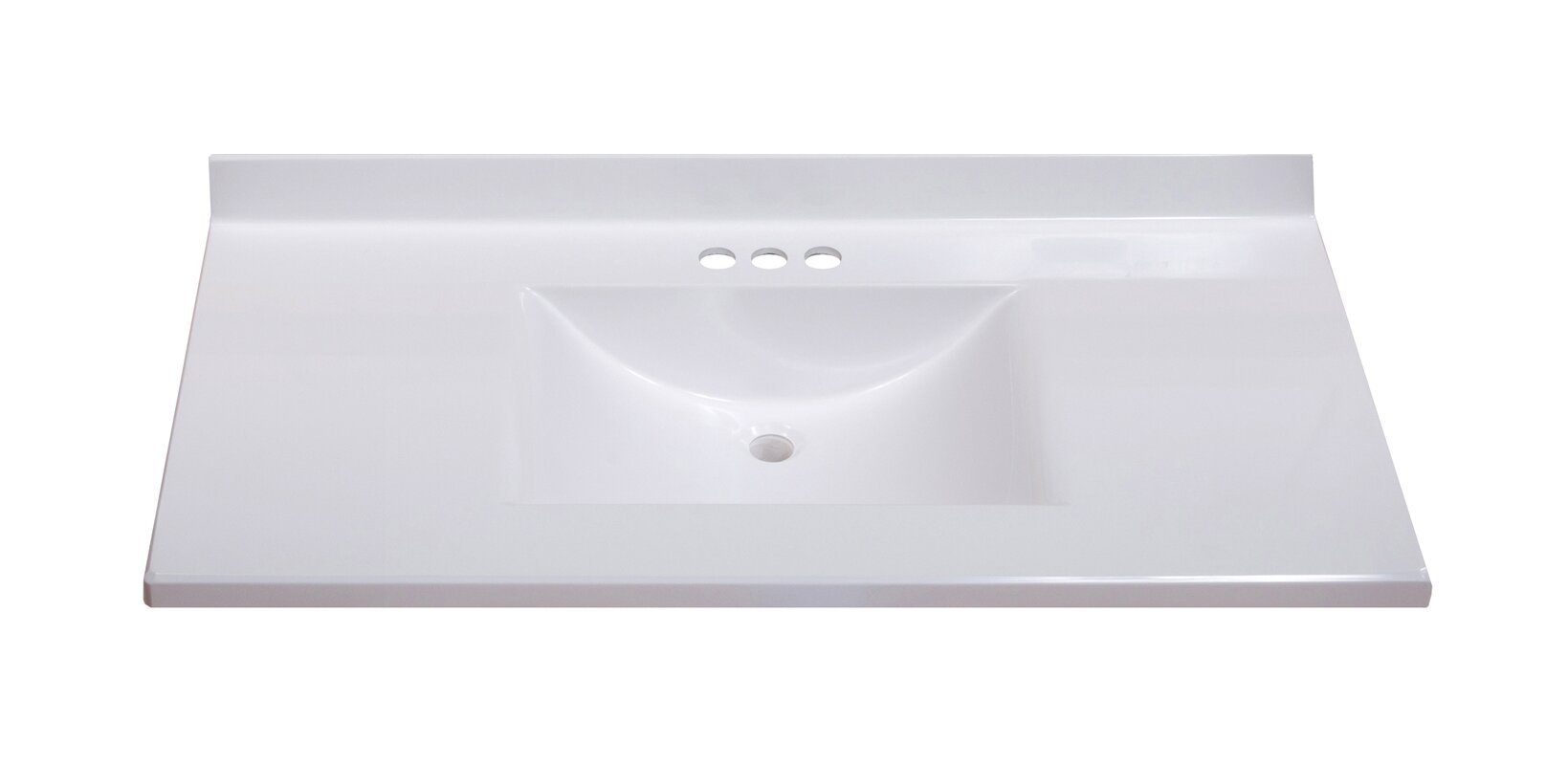 bathroom vanity tops without sink. Center Wave Bowl 37  Single Bathroom Vanity Top Tops You ll Love Wayfair
