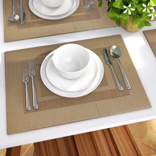 Zapata Double Frame Kitchen 18  Placemat (Set of 6) & Placemats