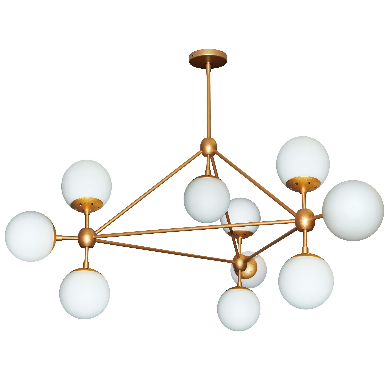 Corrigan Studio Lyle 10 Light Triangular Sputnik Chandelier