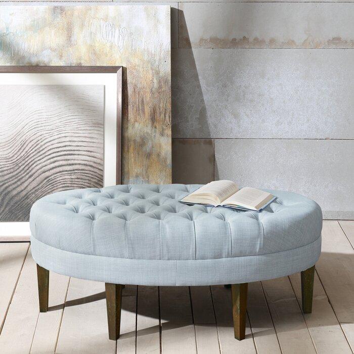 Amazing Keats Tufted Cocktail Ottoman Evergreenethics Interior Chair Design Evergreenethicsorg
