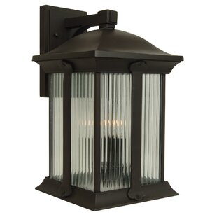 Charlton Home Oakhill Modern 3-Light Outdoor Wall Lantern