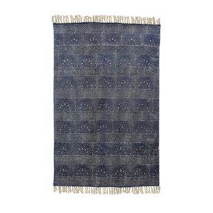 Triplett Printed Cotton Blue Indoor/Outdoor Area Rug