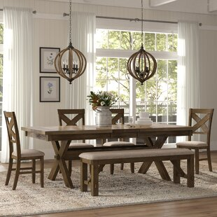 Poe 6 Piece Extendable Dining Set by Grac..