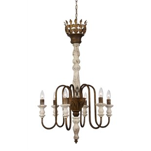 Bay Isle Home Rivera 6-Light Candle-Style Chandelier