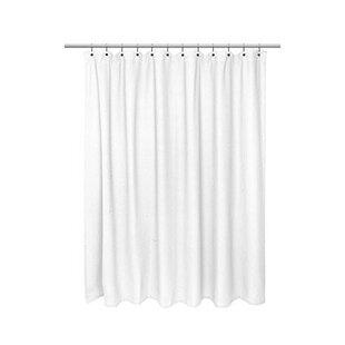 White Waffle Shower Curtain