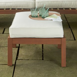 Rossi Outdoor Ottoman with Cushion by Birch Lane™ Heritage