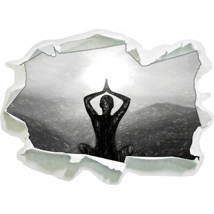 Yoga And Meditation Near The Mountains Wall Sticker By East Urban Home