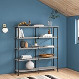 Thea 63 H x 60 W Metal Etagere Bookcase by 17 Stories