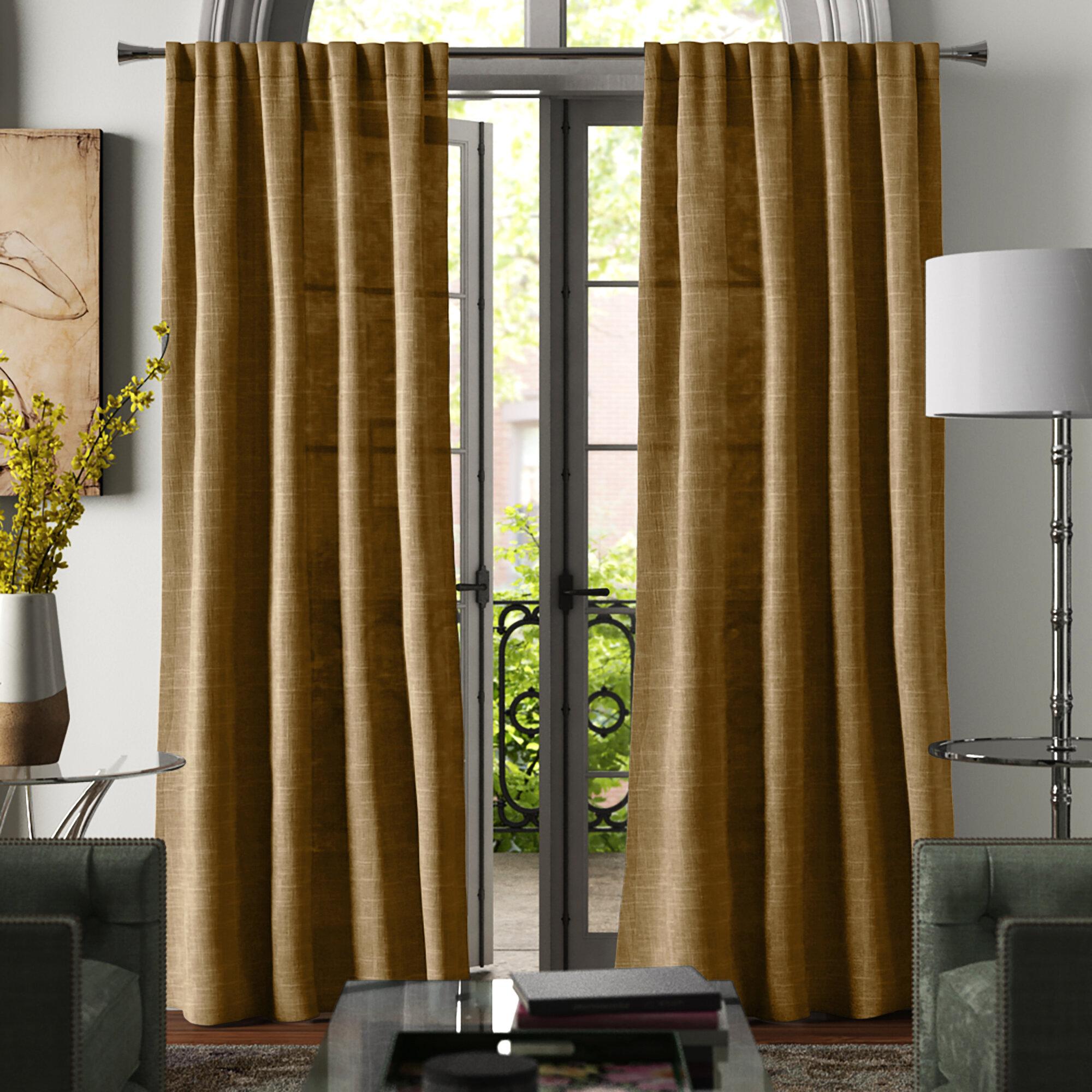 Winnett Solid Room Darkening Rod Pocket Curtain Panels Reviews Joss Main