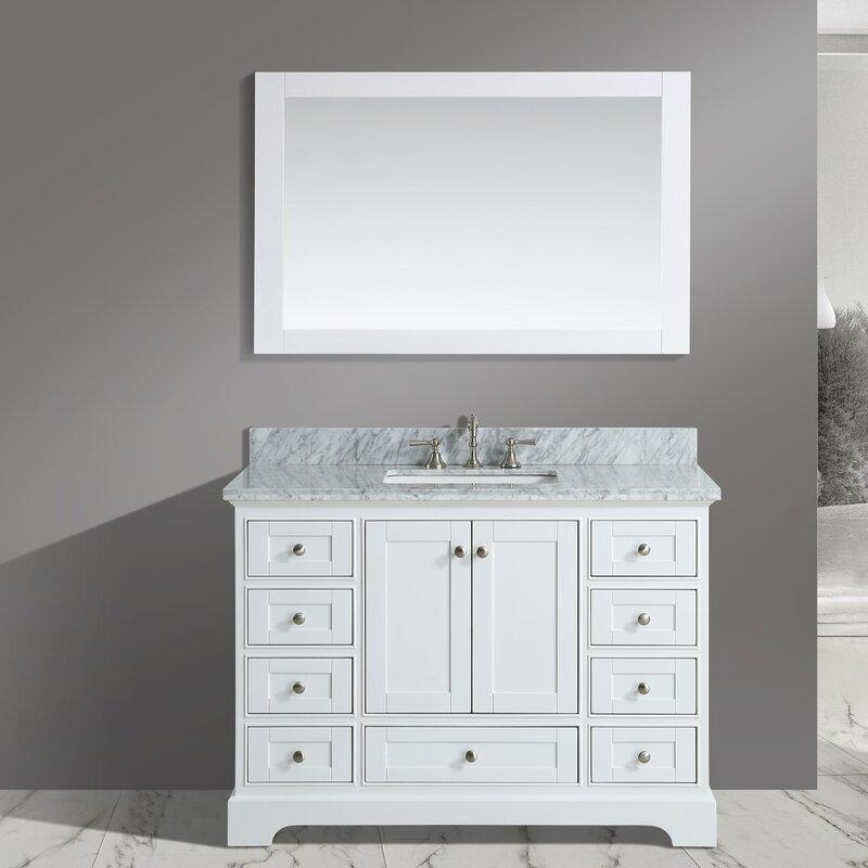 """Castellanos 48"""" Single Bathroom Vanity Set with Mirror"""