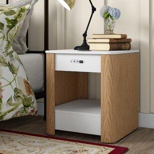 Yoakum 1 Drawer Bedside Table By Brayden Studio