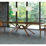 Exeter Butterfly Leaf Walnut Solid Wood Dining Table by Copeland Furniture