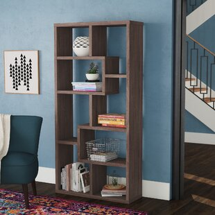 Case Habra Geometric Bookcase by Wrought Studio