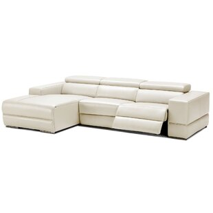 Shop Galena Leather Reclining Sectional by Wade Logan