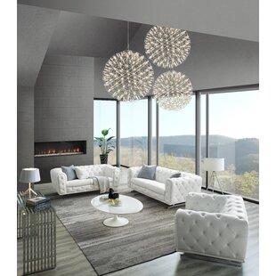 Bloomsburg 3 Piece Leather Living Room Set By Orren Ellis