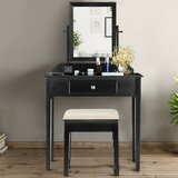 Caggiano Vanity Set with Stool and Mirror by Winston Porter