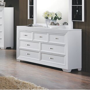 Brayden Studio Astor Row 7 Drawer Dresser