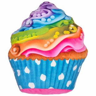 Hardnett Rainbow Cupcake Pillow