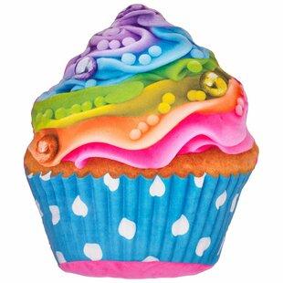Hardnett Rainbow Cupcake Pillow